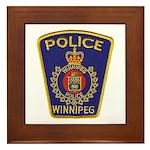 Winnipeg Police Framed Tile