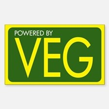 Powered by VEG Rectangle Decal