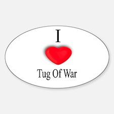 Tug Of War Oval Decal