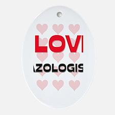 I LOVE MAZOLOGISTS Oval Ornament
