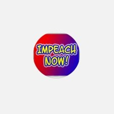 IMPEACH NOW! Anti-Bush Mini Button