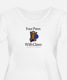 Four Paws With Claws T-Shirt