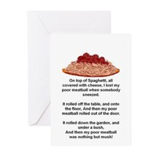 ON TOP OF SPAGHETTI.. Greeting Cards (Pk of 10)