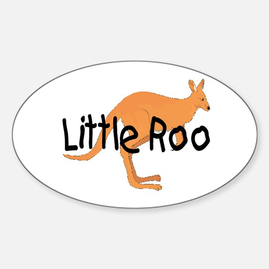 LITTLE ROO - BROWN ROO Oval Decal