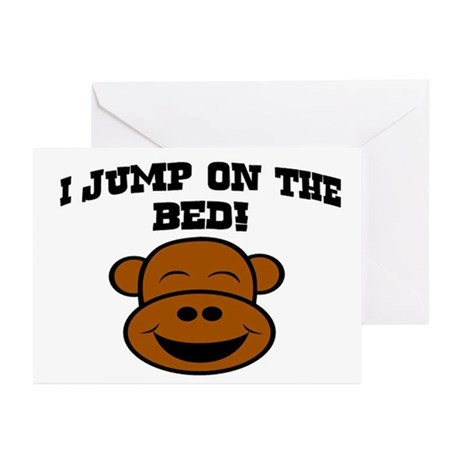 I JUMP ON THE BED! Greeting Cards (Pk of 10)