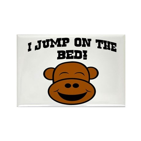 I JUMP ON THE BED! Rectangle Magnet (10 pack)