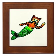 MERMAID KITTY Framed Tile