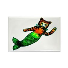 MERMAID KITTY Rectangle Magnet