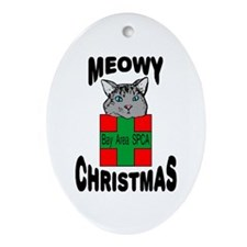 Meowy Christmas Tree Ornament