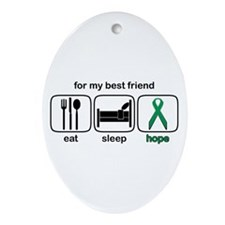 Best Friend ESHope Kidney Oval Ornament