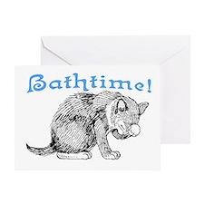 BATHTIME! Greeting Card