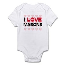 I LOVE MASONS Infant Bodysuit