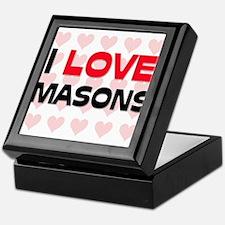 I LOVE MASONS Keepsake Box