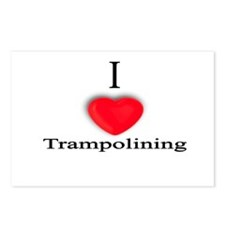 Trampolining Postcards (Package of 8)