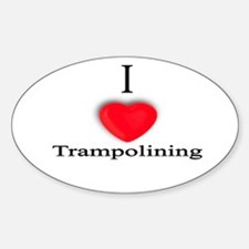 Trampolining Oval Decal