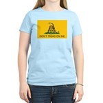 Don't Tread On Me (Gadsden Flag) Women's Pink T-Sh