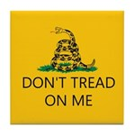 Don't Tread On Me (Gadsden Flag) Tile Coaster