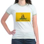 Don't Tread On Me (Gadsden Flag) Jr. Ringer T-Shir