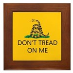 Don't Tread On Me (Gadsden Flag) Framed Tile