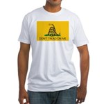 Don't Tread On Me (Gadsden Flag) Fitted T-Shirt