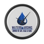 Waterboarding Large Wall Clock