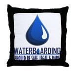 Waterboarding Throw Pillow