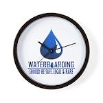 Waterboarding Wall Clock