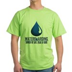 Waterboarding Green T-Shirt