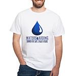 Waterboarding White T-Shirt