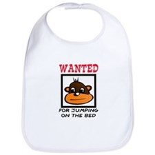 WANTED: JUMPING ON THE BED Bib