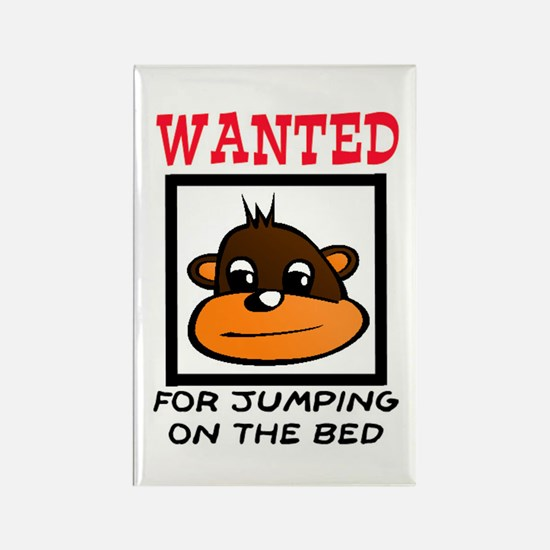 WANTED: JUMPING ON THE BED Rectangle Magnet