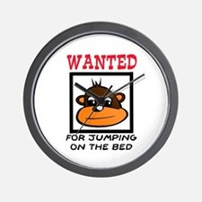 WANTED: JUMPING ON THE BED Wall Clock