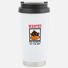 WANTED: JUMPING ON THE BED Travel Mug
