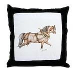 Working stallion Throw Pillow