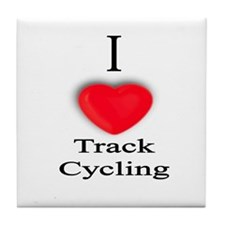 Track Cycling Tile Coaster