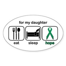 Daughter ESHope Kidney Oval Decal