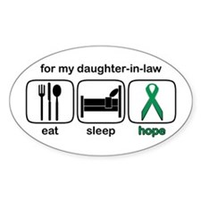 Daughter-in-law ESHope Kidney Oval Decal