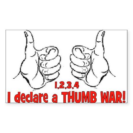 THUMB WAR Rectangle Sticker 10 pk)