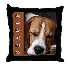 Gorgeous Beagle Puppy Throw Pillow, Beagle Decor
