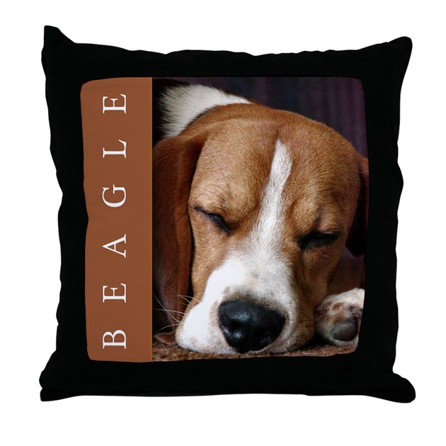 Gorgeous Beagle Puppy Throw Pillow Beagle Decor By Custom