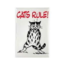 CATS RULE! Rectangle Magnet