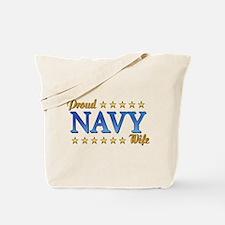 Proud Navy Wife Tote Bag