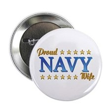 Proud Navy Wife Button