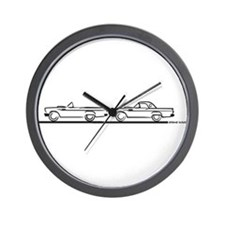 Two 57 T Birds Wall Clock