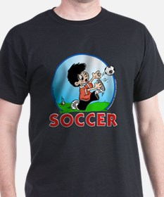 Soccer Player! (2) Black T-Shirt 1 sided