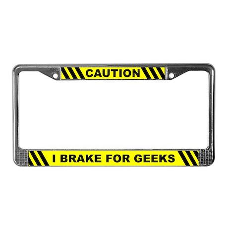 Funny Geek License Plate Frame