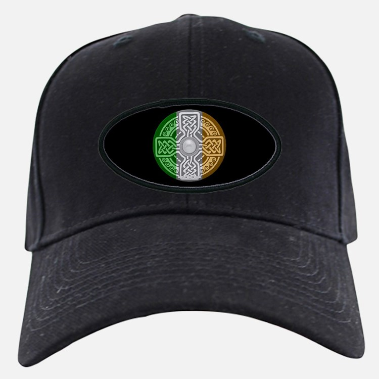 Celtic Shield Knot with Irish Flag Baseball Hat