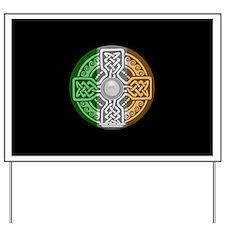 Celtic Shield Knot with Irish Flag Yard Sign