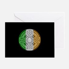 Celtic Shield Knot with Irish Flag Greeting Card