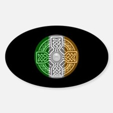 Celtic Shield Knot with Irish Flag Oval Decal